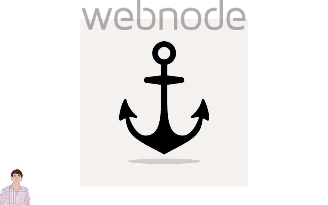 Ako vytvorit kotvu vo webnode