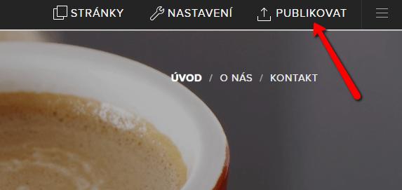 Publikovať zmeny vo Webnode