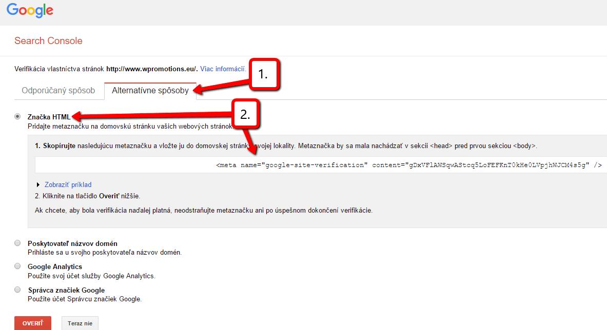 Ako pridať web do Google