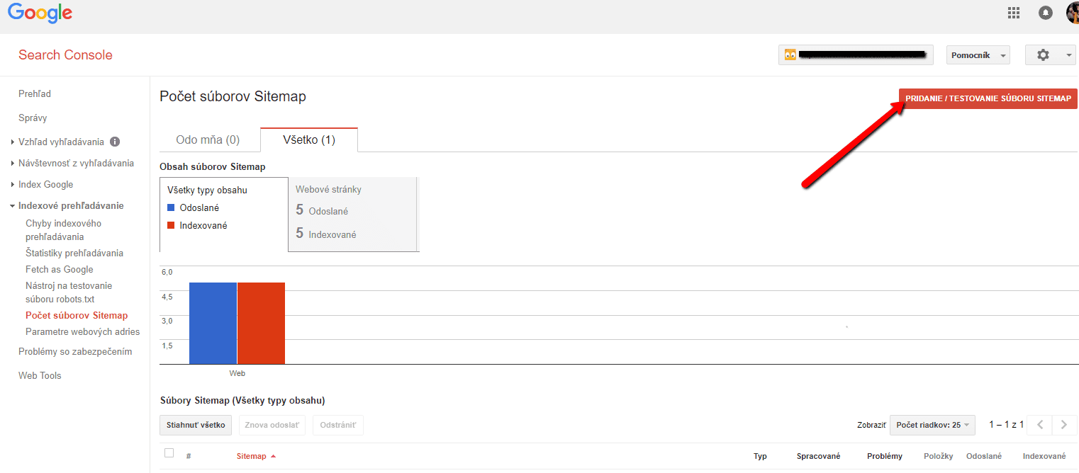 Ako vložiť súbor sitemap