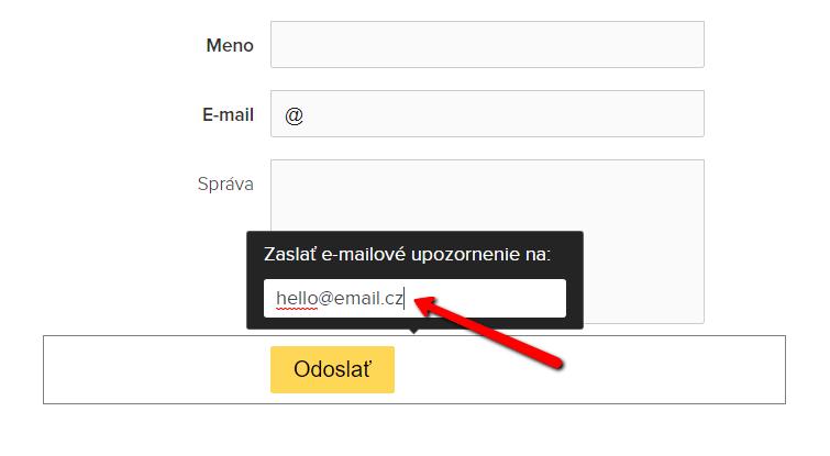 Ako zmeniť email v kontaktnom formulári