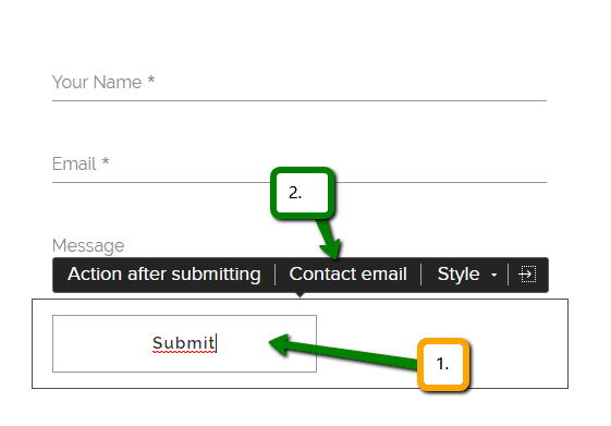 How to change an email in contact form in Webnode