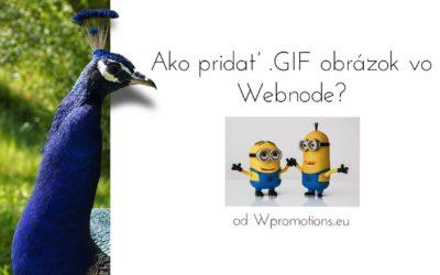 Ako pridať obrázok GIF vo Webnode?
