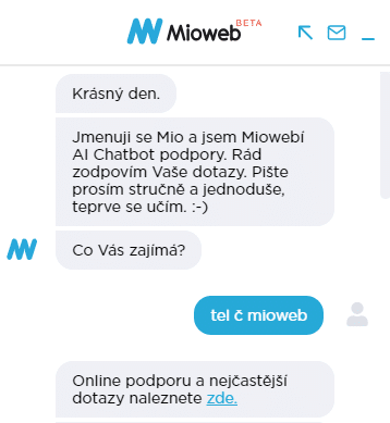 Chatbot MioWeb