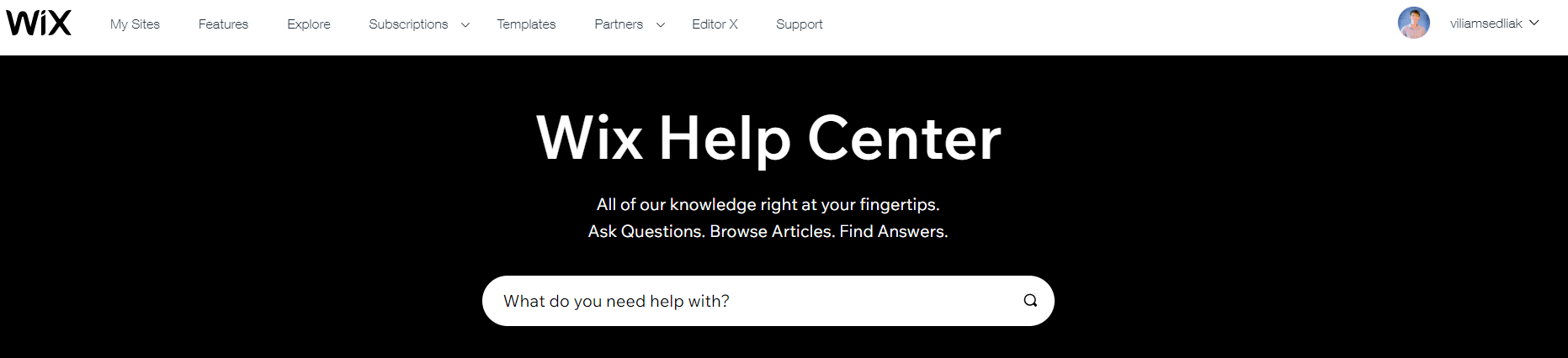 Wix - Recenze - Help Center - Ukazka