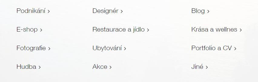 Výber šablóny vo Wix - výber z viac ako 50 kategórií