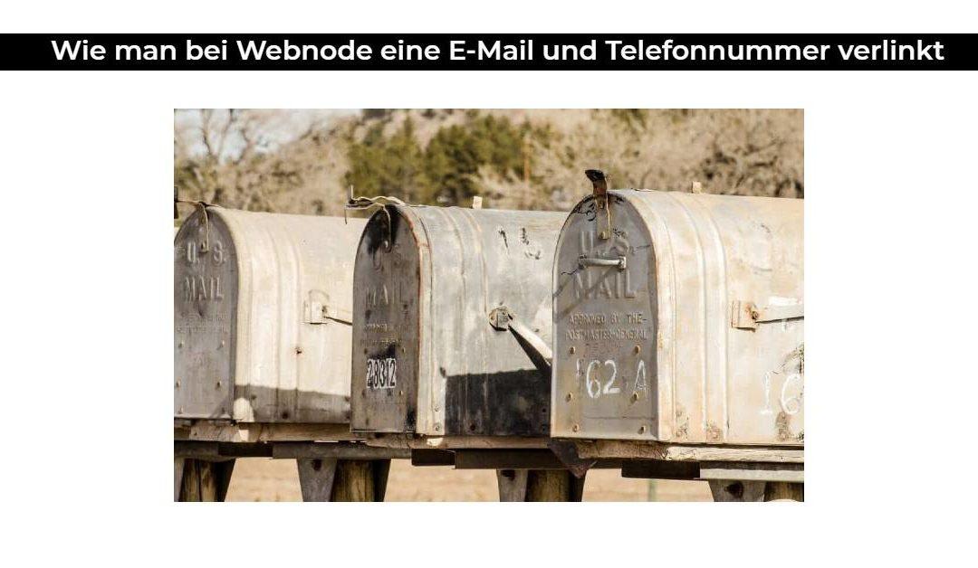 Wie man bei Webnode eine E-Mail und Telefonnummer verlinkt