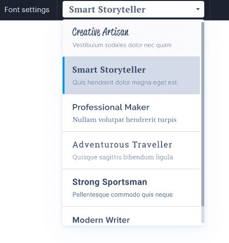 Zmena písma vo Webnode je jednoduchá