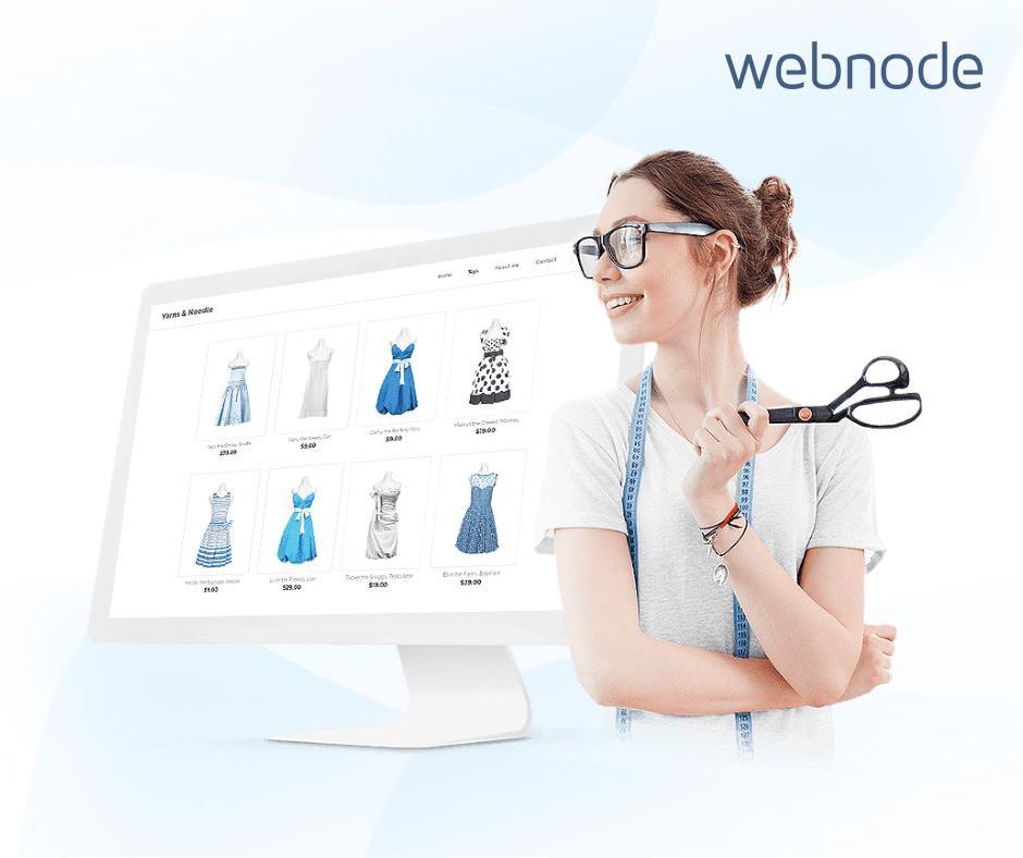 Webnode - tvorba e-shopu nebola nikdy jednoduchšia. (Zdroj: Webnode)