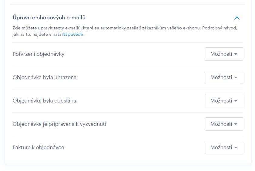 Úprava automatických emailov vo Webnode. Konečne je to tu