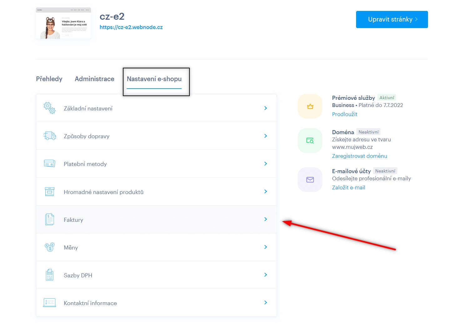 Automatická fakturácia v profile